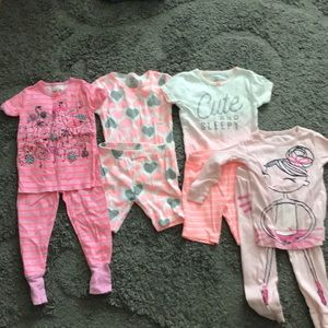 Other - Four pairs baby girl summer pjs